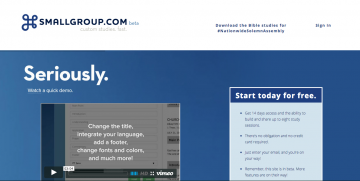 SmallGroup.com Customizable Small Group Studies – Yes!